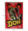 Indian Hippy Paper 30 x 40 Inch Don Vintage Unframed Bollywood Poster