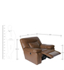Indulge One Seater Half Leather Electric Recliner in Brown Colour by HomeTown