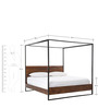 Industrial Canopy Queen Size Bed in Black Colour by Asian Arts
