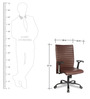Infinity Executive Chair in Brown Colour by VOF