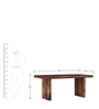 Trego Six Seater Dining Table in Provincial Teak Finish by Woodsworth