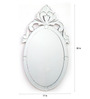 Castleford Decorative Mirror in Silver by Amberville