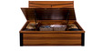 Iris Queen Bed with Hydraulic Storage in Maple Colour by Royal Oak