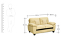 Iris Two Seater Sofa in Light Brown Colour by Royal Oak