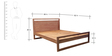 Ishoy Queen Bed in Natural Finish by Tezerac
