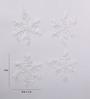 Itiha White Plastic Christmas White Snow Flakes Window Or Door Glass Decoration - Set of 12
