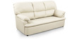 Ivy Sofa Set (3 + 1 + 1) Seater in White Colour Super Premium Leatherette by Comfort Couch