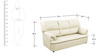Ivy Sofa Set (3 + 1 + 1) Seater in Off White Colour Premium Leatherette by Comfort Couch