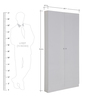 Iva Big Two Door Shoe Rack in White Colour by Evok
