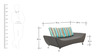 Jackson Three Seater Sofa in Brown Colour by Furnitech
