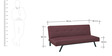 Jade Sofa cum Bed in Marsala Colour by HomeTown