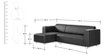 Jarcher L Shape Sofa in Black Colour by Madesos