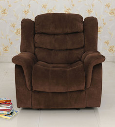 Jasmine One Seater Recliner In Brown Colour By Royal Oak