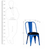 Azul Metal Chair in Blue with Cushioned Seat Color by Bohemiana
