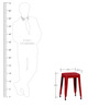 Erco Iron Stool in Red Colour by Bohemiana