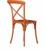 Alva Metal Chair in Orange Color by Bohemiana