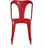 Bowen Metal Chair in Red Color by Bohemiana
