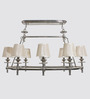 Jainsons Emporio 8 Arm Lamp Shade Chrome Finish Chandelier