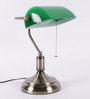 Jainsons Emporio Bankers Table Lamp with Green Shade