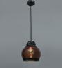 Jainsons Emporio Brown Aluminium & Glass Pendant