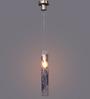Jainsons Emporio Camino Silver & Blue Glass & Metal Pendant Lamp