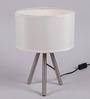 Jainsons Emporio Creche Crystal Black Metal Tripod Table Lamp