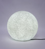 Jainsons Emporio Globe White Plastic LED Indoor Outdoor Lamp