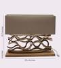 Jainsons Emporio Le Sculpture Beige Wooden Teak Base Table Lamp
