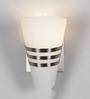 Jainsons Emporio Rebecca Single White Glass Upward Wall Light