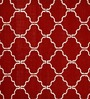 Jaipur Rugs Red Lacquer & White Wool 96 x 120 Inch Area Rug