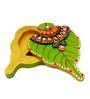 JaipurCrafts Green Wooden Chic Roli Tikka Chopra