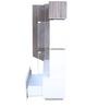 Jasmine Wall Unit in Dark Oak & white Colour by HomeTown