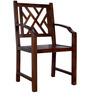 Enumclaw Arm Chair in Provincial Teak Finish by Woodsworth