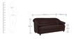 Jennifer Three Seater Sofa in Brown PVC by Urban Living