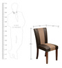 Jenn Dining Chair with Cushion in Walnut Colour by @Home