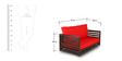 Jinjer Relaxing Two Seater Sofa in Red Colour by ARRA