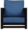 Jinjer Comfortable One Seater Sofa in Blue Colour by ARRA