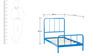 Johnson Kids Bed in Blue Colour by Asian Arts