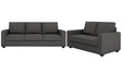 Jordana Three Seater Sofa in Royal Grey Colour by CasaCraft