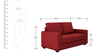 Jordana Two Seater Sofa in Cherry Colour by CasaCraft
