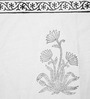 Jodhaa Floral And Paisley White & Grey Cotton Table Runner