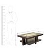 Joss Veener Center Table in Dark Walnut Colour by HomeTown
