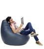 Jumbo SAC Bean Bag (Cover Only) Grey Color Colour  by Style Homez