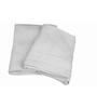 Just Linen White Cotton Bath & Hand Towel - Set of 4