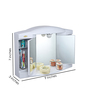 Jvs White ABS Plastic Bathroom Cabinet