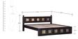 Kasiya Queen Bed with Brass Repousse Work in Warm Chestnut Finish by Mudramark