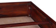 Kasiya Single Size Bed with Brass Repousse Work in Honey Oak Finish by Mudramark