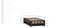 Kasiya Single Bed with Brass Repousse Work in Warm Chestnut Finish by Mudramark