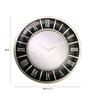 Kairos Contemporary Silver Resin Roman Numerical Wall Clock