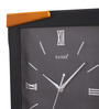 Kaiser Black & Brown Wooden 11 x 12 Inch Mat Frame with Silver Digits Clock
